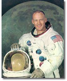 astronaut Edwin Buzz Aldrin