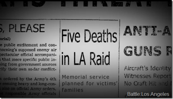 Battle of LA Newspaper Clipping