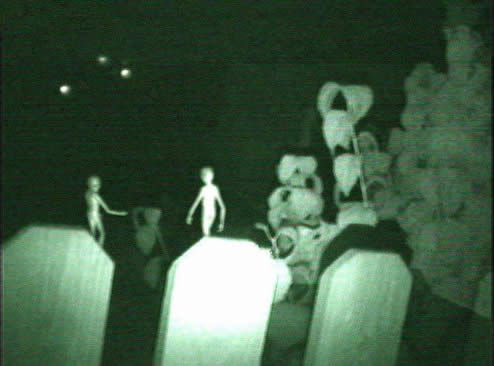 Aliens in a grave yard