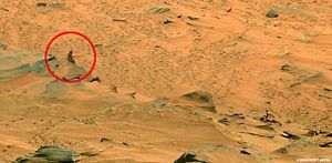 Original Martian Picture from a hill on mars
