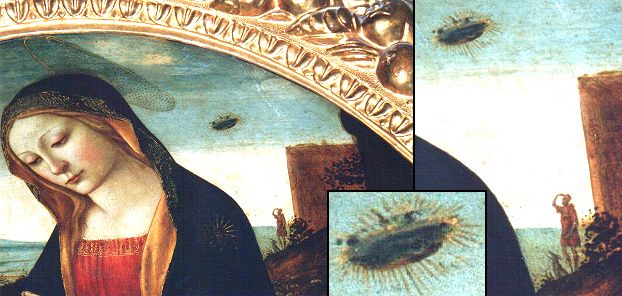 Ufo in the painting the madonna with saint giovannino