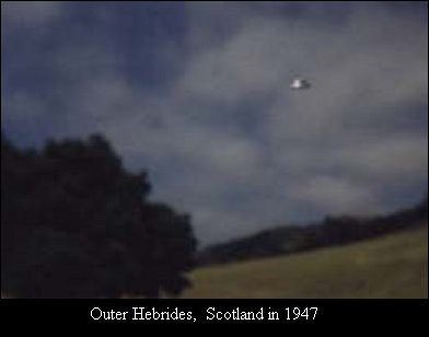 ufos and aliens. UFO Image-Scotland 1947