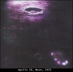 Apollo 14 Saucer on Moon