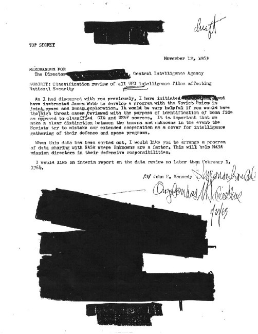 JFK UFO Memo