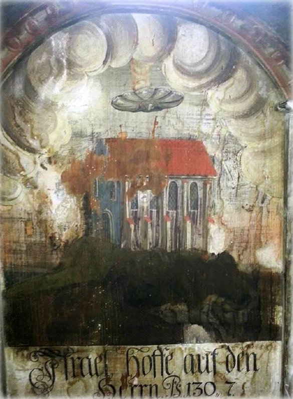 New Ancient Aliens Painting Found in Church Ufo-ancient-aliens