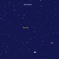 Gliese 581 g Star Map