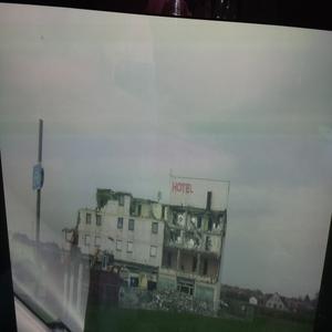 UFO over hotel being demolished